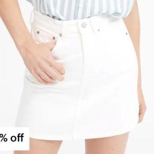 Everlane white denim skirt, size 29